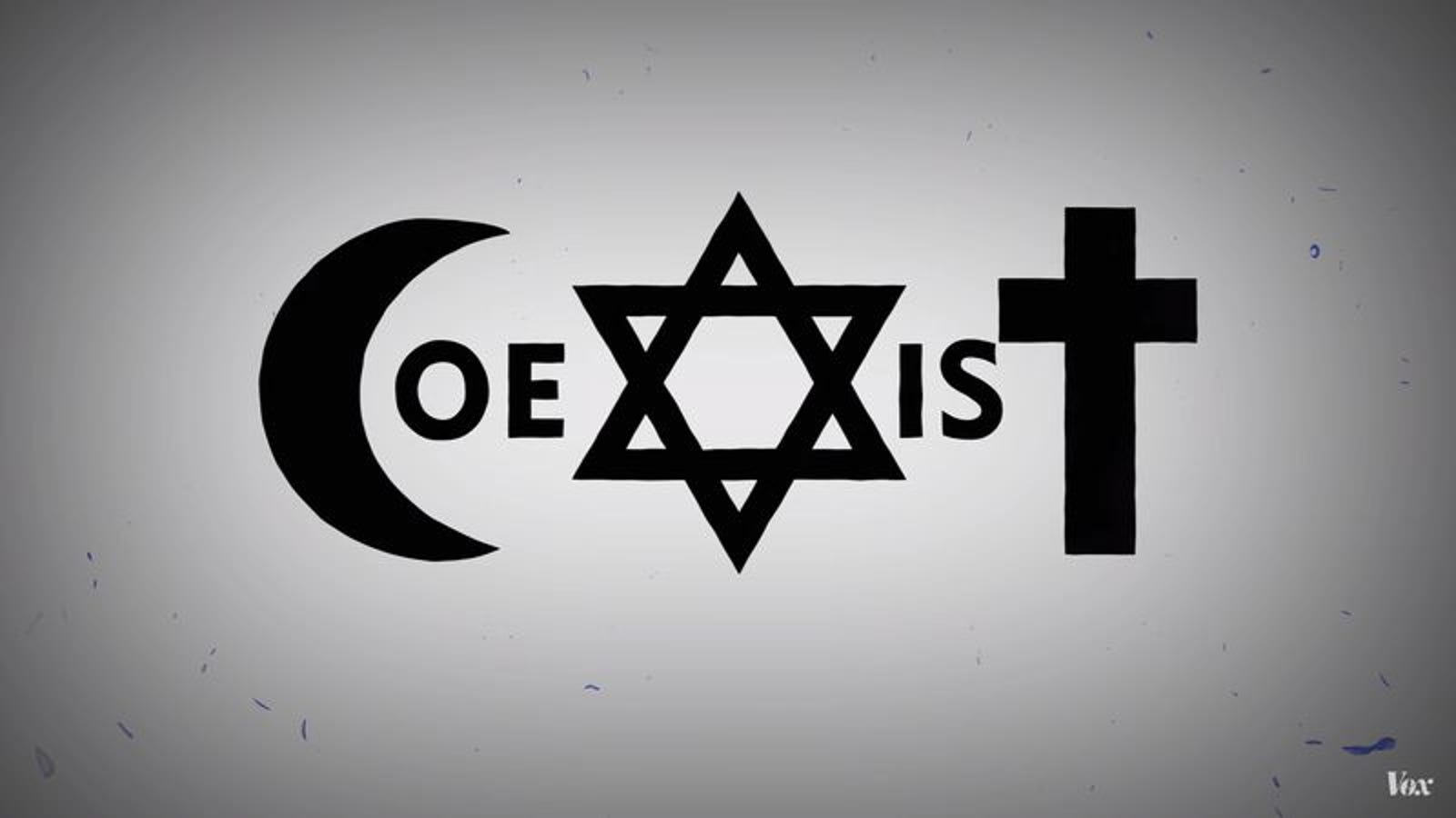 The contentious history of that peace promoting coexist logo