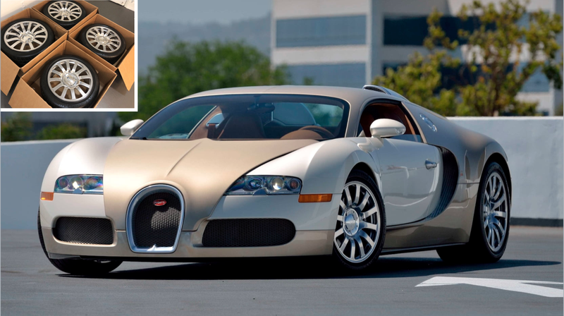 Illustration for article titled Please Consider This Set of Lightly Used Bugatti Veyron Wheels for $100,000