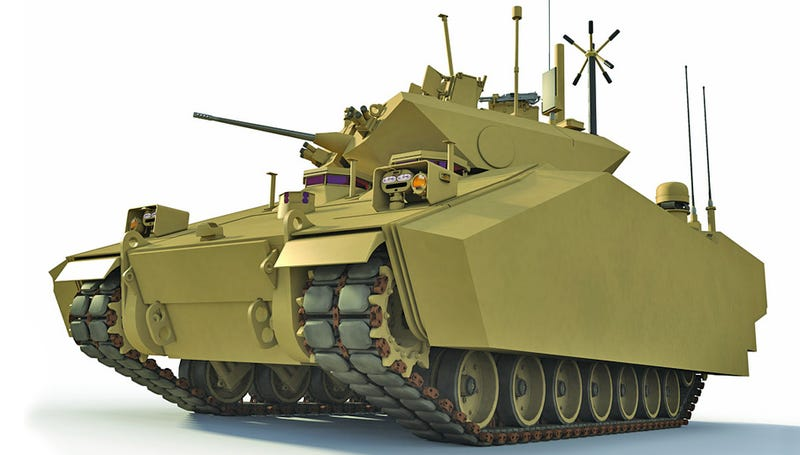 Illustration for article titled Army's New Hybrid Tank Targets Our Enemies and Soaring Oil Prices