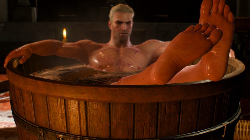 Look at Geralt's feet. Look at them.