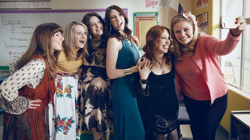 L-R: Caitlin Barlow, Katie O'Brien, Cate Freedman, Katy Colloton, Kathryn Renee Thomas, and Kate Lambert