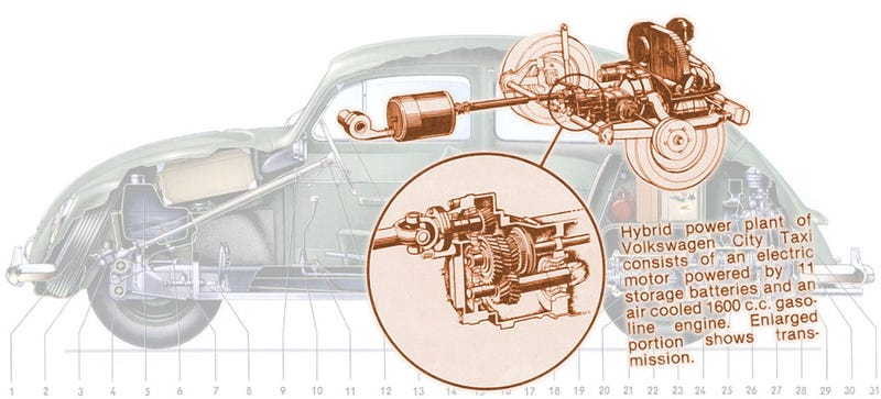 Illustration for article titled VW Could Have Made A Hybrid Beetle Over 30 Years Ago
