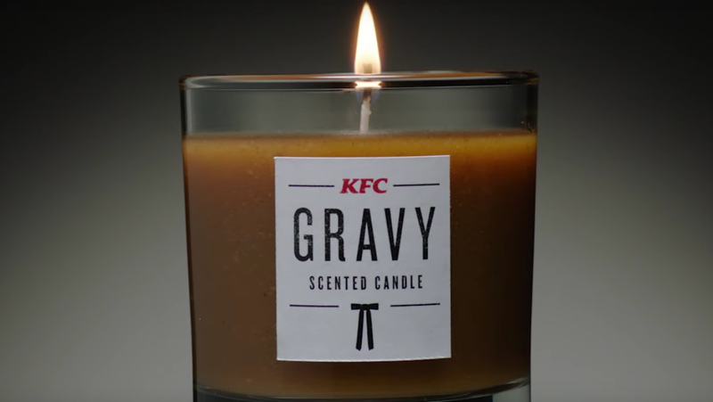 Illustration for article titled Let us wax rhapsodic about the KFC Gravy Scented Candle