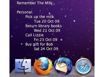 Illustration for article titled Put Remember the Milk on Mac Desktops with GeekTool