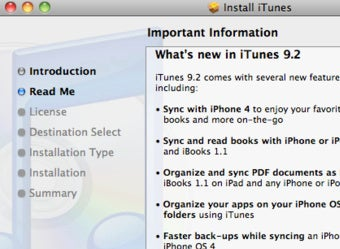 iTunes 9 2 Adds iOS 4 and iBooks Support, Faster Device Syncing