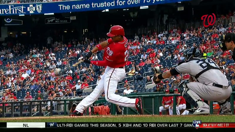 Illustration for article titled Strong Teen Juan Soto Smacked The Hell Out Of This Dinger