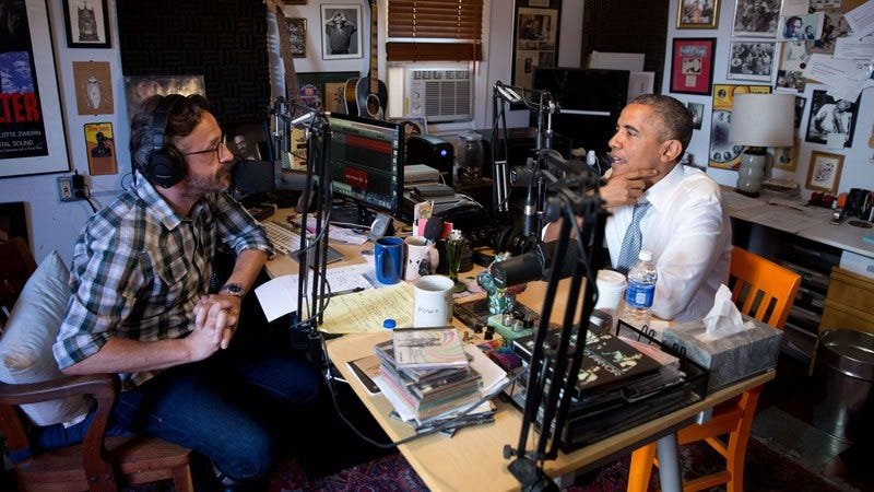 Illustration for article titled Marc Maron interviews Barack Obama, while Hannibal gets further dissected