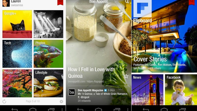 Illustration for article titled Flipboard Finally Arrives for Android Users