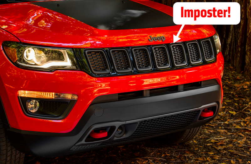 Illustration for article titled The Upper Grille On The New Jeep Compass Is Totally Fake