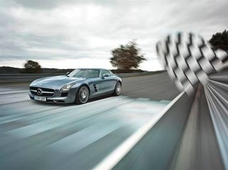 Illustration for article titled Mercedes SLS AMG Press Photos
