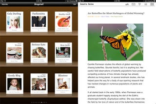 Illustration for article titled Blogshelf iPad App Makes Your RSS Feeds Look Like Books