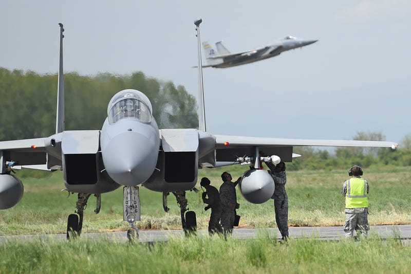 Illustration for article titled More F-15s Are In Europe Training With Allies -- And Staring Down Russia