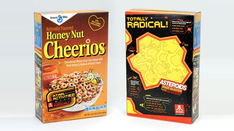 Illustration for article titled Find Retro Atari Classics on the Back of Specially Marked Boxes of General Mills Cereal