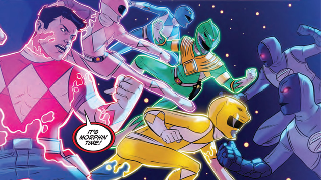 the team behind justice league power rangers tells us about the joys of crossovers and giant mastodons