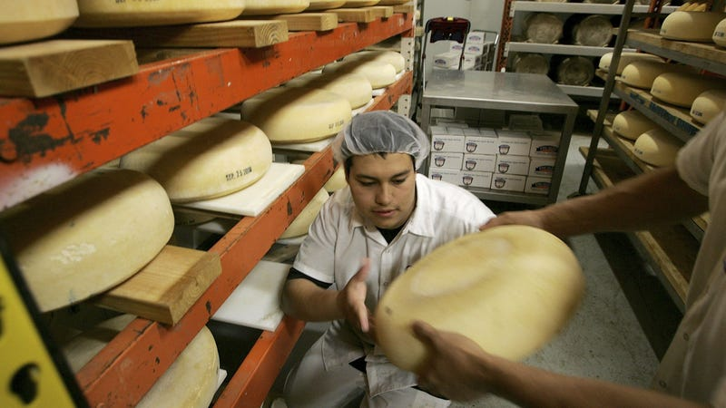 Illustration for article titled Record amounts of American cheese are piling up in warehouses