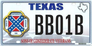 Example of Confederate Flag license plateTwitter