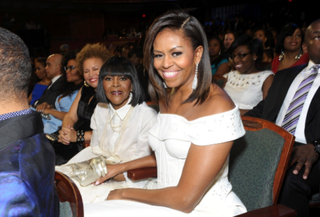 First lady Michelle Obama and actress Cicely Tyson attend Black Girls Rock! at the New Jersey Performing Arts Center in Newark.Courtesy of BET