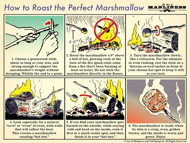 Illustration for article titled Roast the Perfect Marshmallow With This Handy Graphic