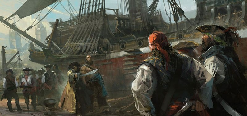 Illustration for article titled Enough Assassin's Creed IV Concept Art To Shiver Your Timbers
