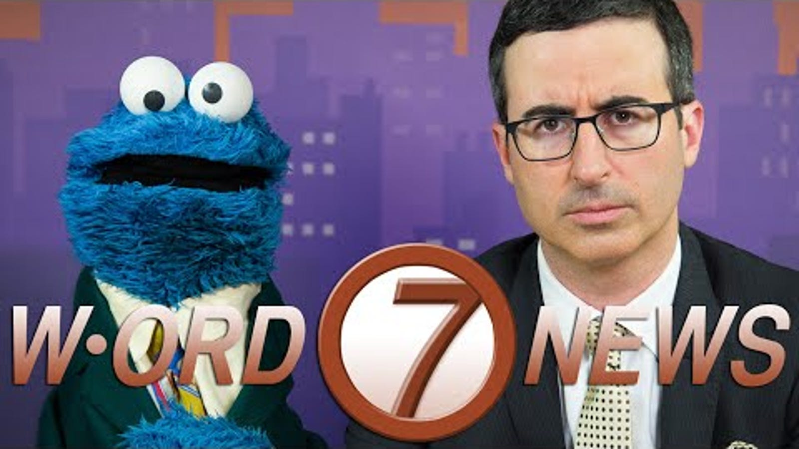 Cookie Monster And John Oliver Should Be Everyone's TV News Reporters