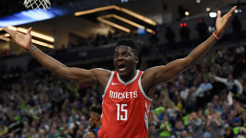 Illustration for article titled Clint Capela Is Getting Squeezed On All Sides This Summer
