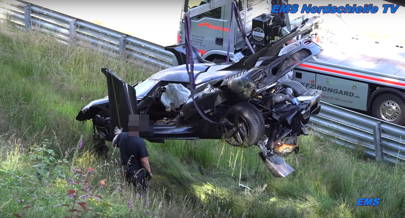 A Koenigsegg One:1 Wrecked On The Nürburgring And It Looks Like ...