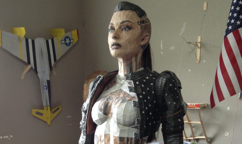 Illustration for article titled This Amazing Life-Sized Mass Effect Party Member Is Made of Paper