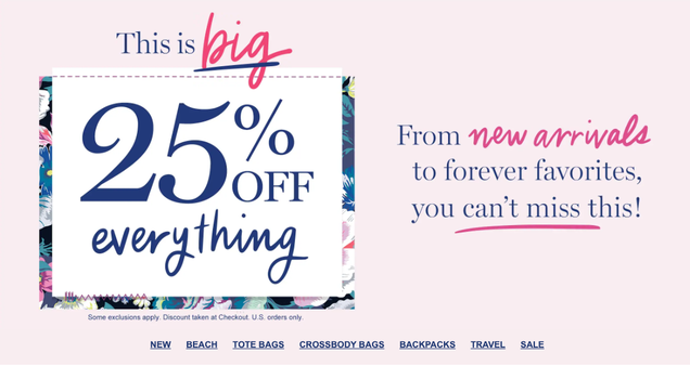 Vera Bradley Is Having A 25% Off Sale So Pick Up A Bag To Hold All The Things