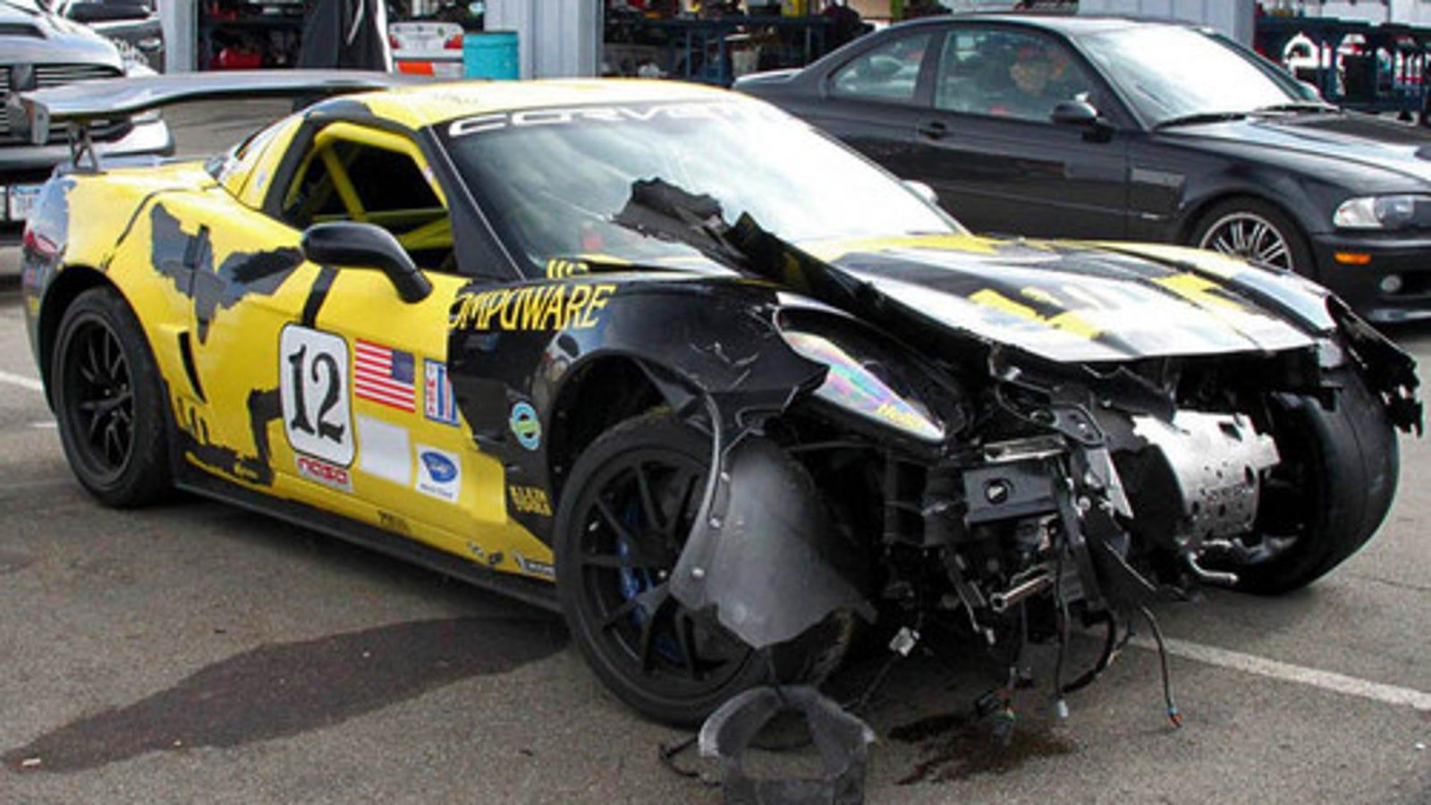 Race Car Crash: Corvette ZR1 Race Car Crashes At Watkins Glen