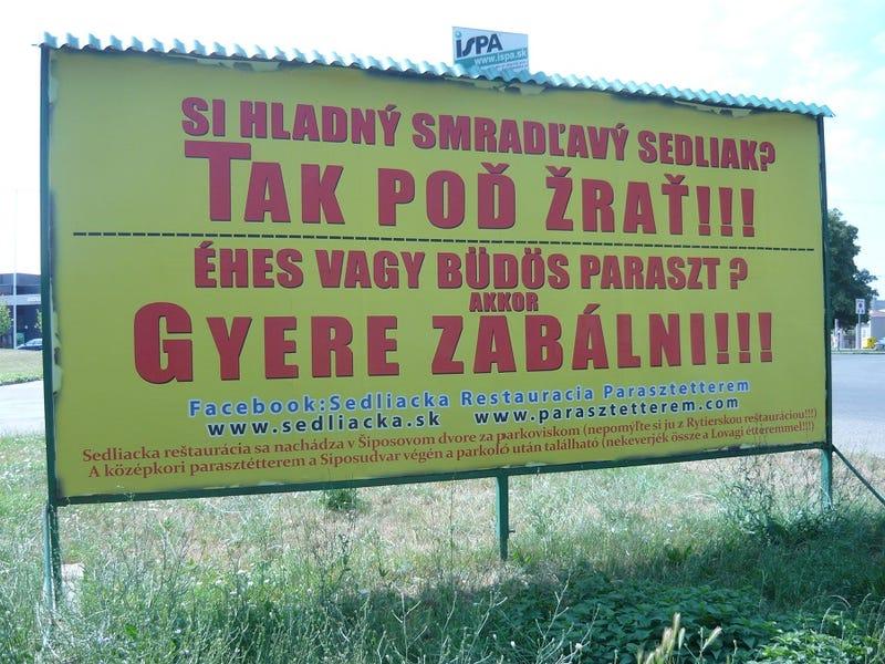 Illustration for article titled Párkányban látható a magyar nyelvterület legerősebb óriásplakátja