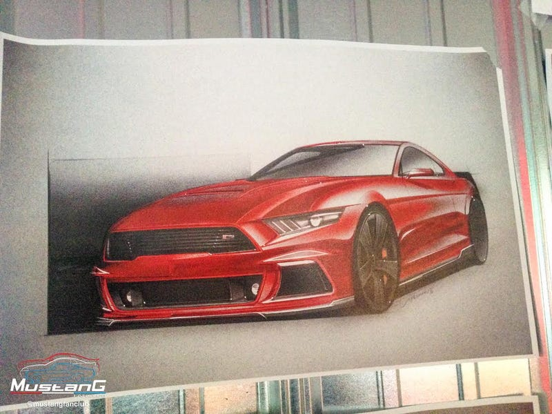 Illustration for article titled Here's Even More Renders Of The Kickass 2015 Roush Ford Mustang