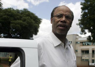 Former U.S. Rep. Mel Reynolds arrives at the Harare Magistrates court on Feb. 19, 2014.JEKESAI NJIKIZANA/AFP/Getty Images