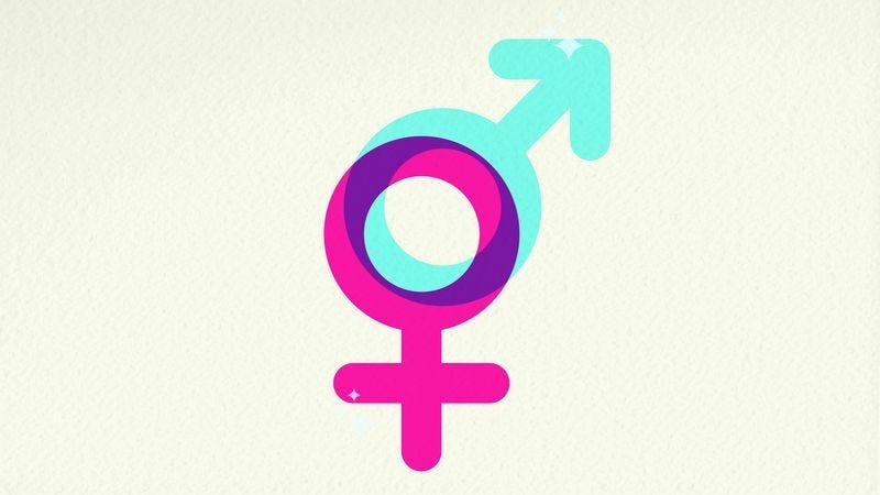 Male and female gender symbols.