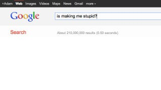 Illustration for article titled Why Google Isn't Making You Stupid