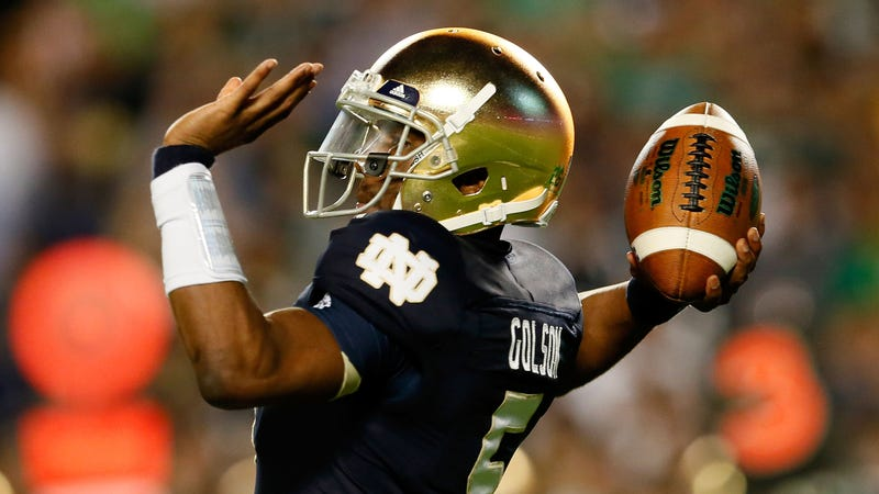 Illustration for article titled Notre Dame QB Golson Allegedly Kicked Out For Academic Violation