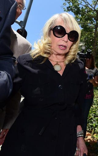 Shelly Sterling, arriving at court in Los Angeles July 8, 2014, on day 2 of the Sterling v. Sterling trial over the sale of her husband's Los Angeles Clippers basketball team.FREDERIC J. BROWN/AFP/Getty Images