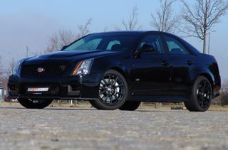 Illustration for article titled Geiger Gives Cadillac CTS-V 619 HP, Paints It Black