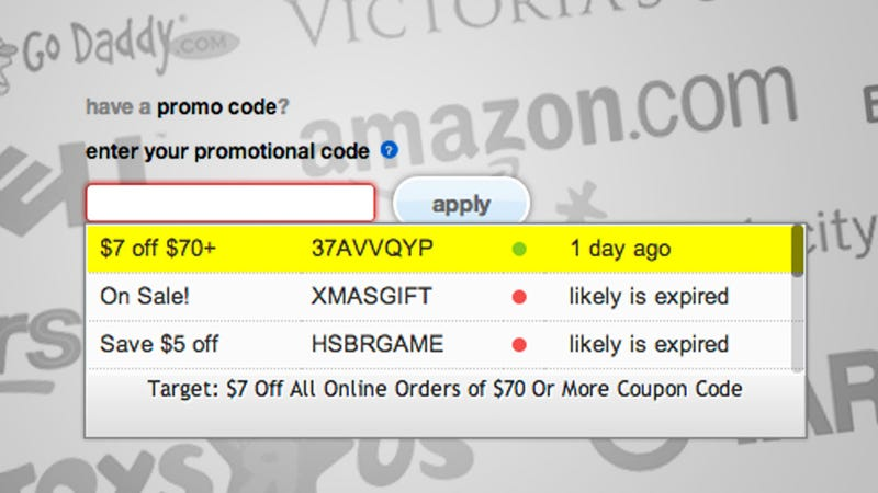 Illustration for article titled Coupons at Checkout Automatically Finds Available Coupons for Your Order During Checkout