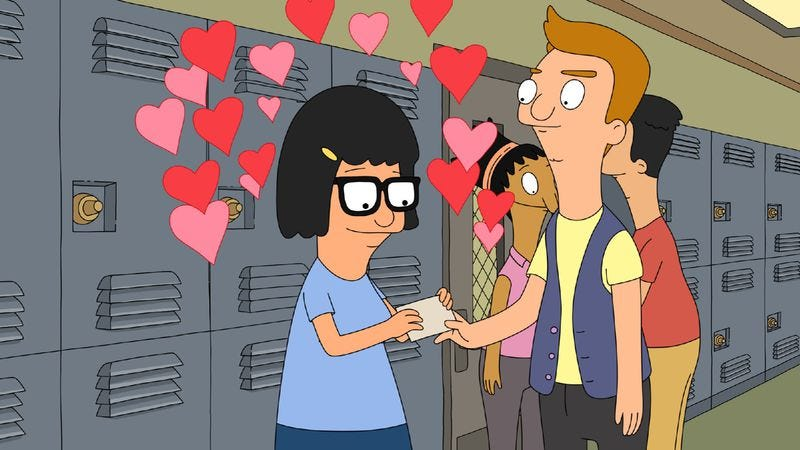 "Illustration for article titled Bob's Burgers: ""My Fuzzy Valentine"""