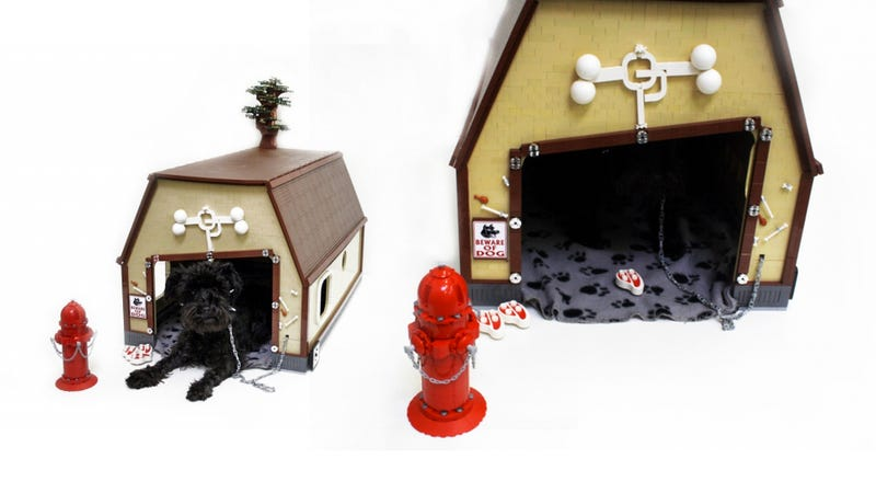 Illustration for article titled This Dog House Is Made Entirely Out of Lego