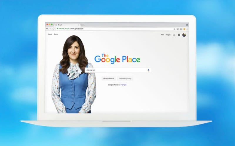 Janet becomes Google in a new web extension.