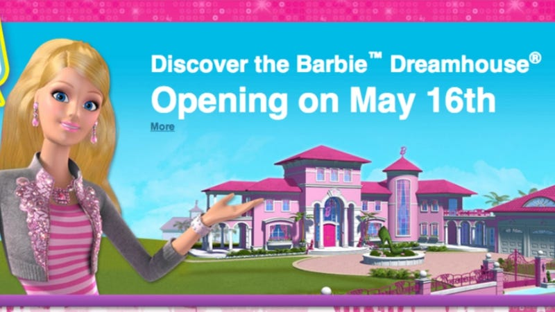 Illustration for article titled Life-Sized Barbie Dreamhouse Comes With 'Occupy Dreamhouse' Protest