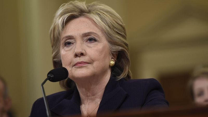 Illustration for article titled Benghazi Committee Instructs Hillary Clinton To Limit Answers To 'I Failed The American People'