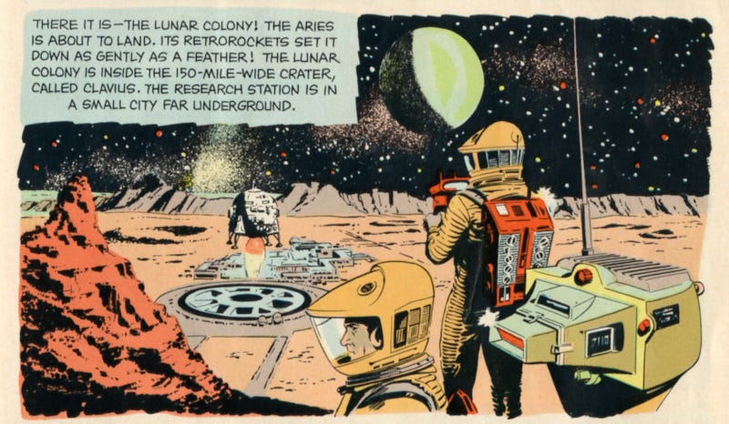 Illustration for article titled 2001: A Space Odyssey explained on a 1968 child's menu