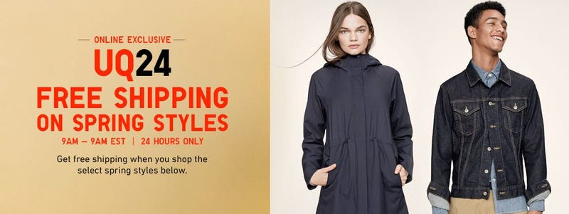 Uniqlo Flash Sale: Free shipping on spring styles
