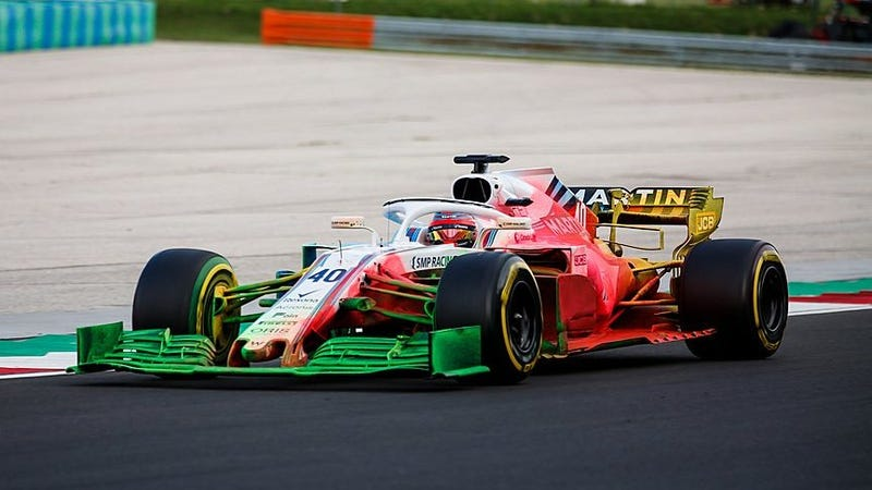 Illustration for article titled Technicolor Air Flow Paint Splatters Are the Liveries That Formula One Needs