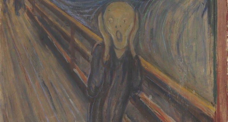 Edvard Munch's iconic 'the Scream' (1893).