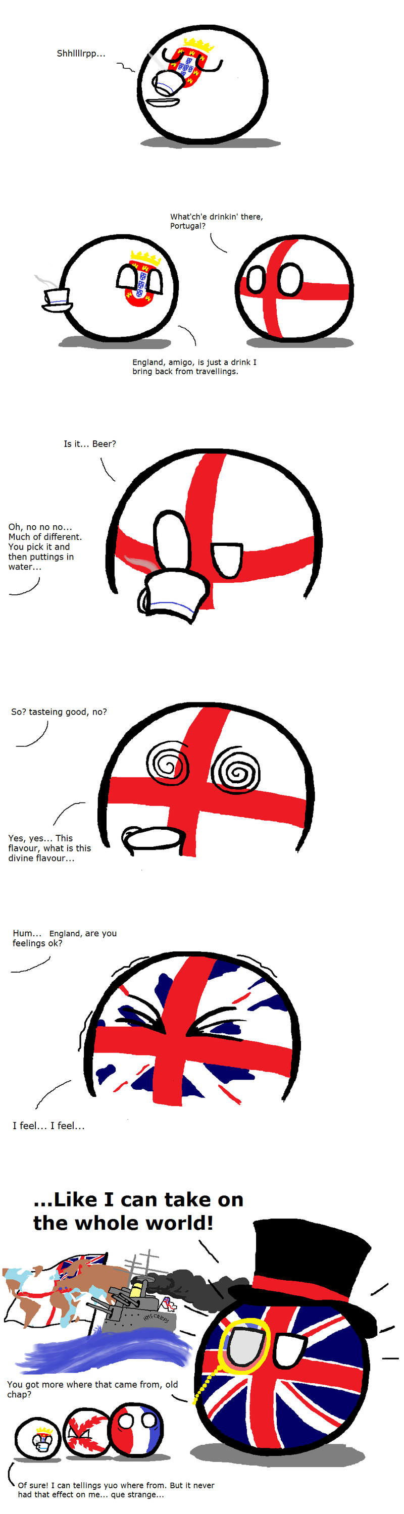Illustration for article titled Daily Polandball: The Power of The Brits.