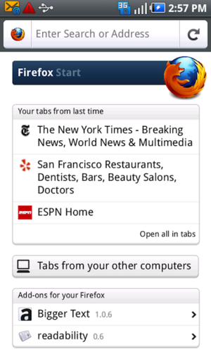 Illustration for article titled Firefox 4 Mobile Beta Updates, Improves Add-on Discovery and Keyboard Support