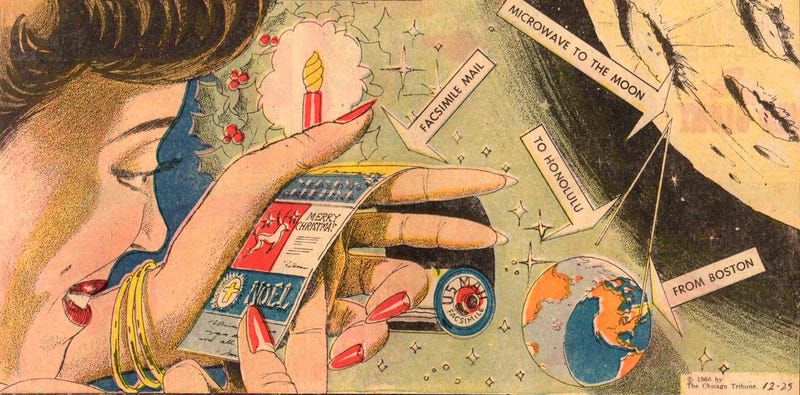 Illustration for article titled This Was An Electronic Christmas Card In 1960